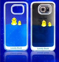 Transparent 3D Glitter Quicksand Dynamic Liquid Plastic Crystal Clear Protector Back Case Shell Cover for Samsung Galaxy Note 4