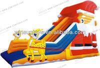 2013 alibaba hot selling 0.55mm PVC merry christmas inflatable festival slide