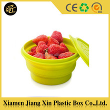 Eco-friendly food grade waterproof kids silicone food storage container