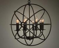 Decorative Lighting Vintage Industrial RH Loft Foucault Metal Circle With Candle Lights China Supplier Pendant Lighting