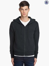 Custom hoodies cotton polyester zip french terry hoodie