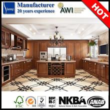 Ak4024 país de américa gabinetes de cocina de madera equipada cocinas en China