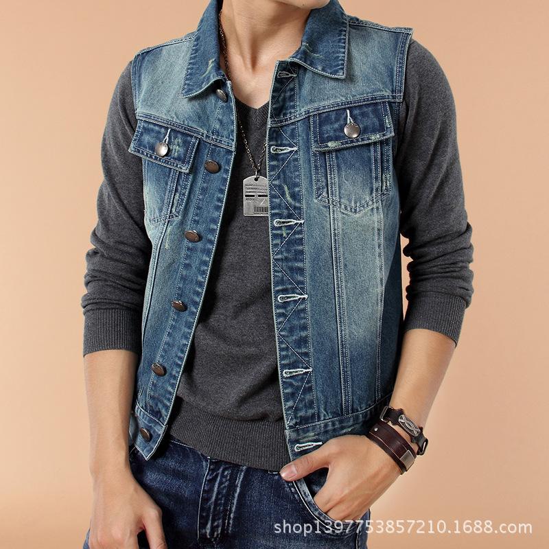 Mens Jean Jacket Vest - Coat Nj