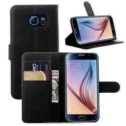 Wallet pu leather case for Samsung galaxy S6