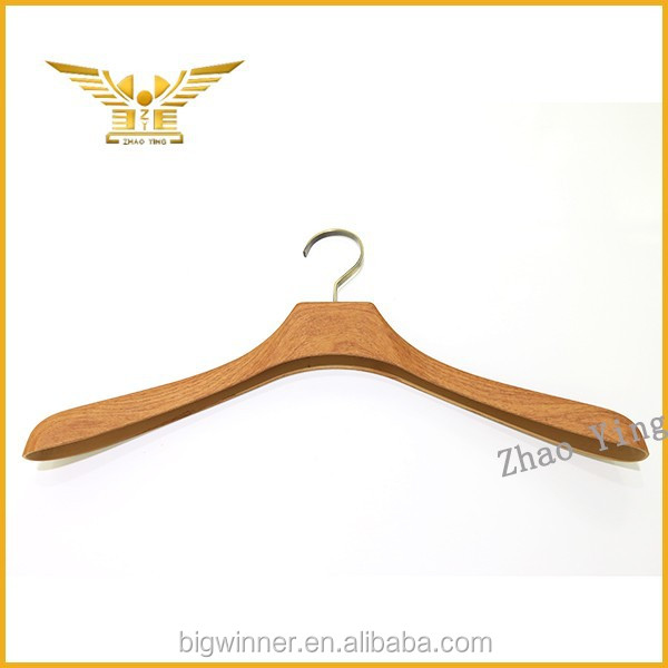 good quality best price wooden clothes hanger car coat hanger