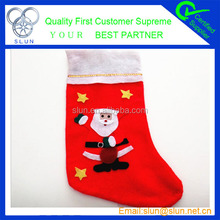 2014 Fashionable and cheap High Quality White Christmas Stocking made in china