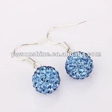 Sky blue czech rhinestone women earring 2012