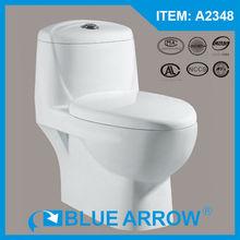 WC Old Fashional Design Sanitary ware Top Dual Flush Ecnomic Ceramic Toilet Three Color A2348