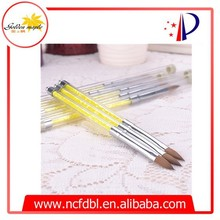 Yellow Plastic Handle Pony Hair 2015 Nail Art Brush Pen