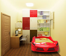 Guangdong Foshan Adult Sized Racing Car Bed With Media Function Children Catoon Bed Girls Boys Bed
