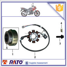 CG175D Motorcycle magnetic stator coil/magneto rotor and motorcycle starter clutch/overrun clutch for ITALIKA FT180 engine