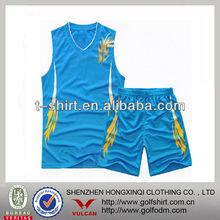 Contrast mens printing basketball uniform oem