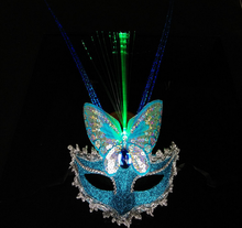 Most Popular Glow Feather Masks