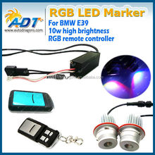Xenon Headlight RGB remote Multi-Color LED RGB Angel Eyes Kit for BMW E39 E66 E87 Error free Remote Control
