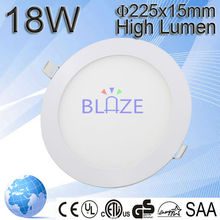 Hot sale cut out size 200mm round led panel 18W led ceiling panel 2835smd with 3years warranty