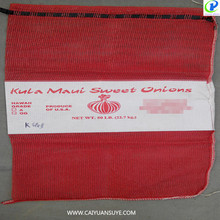 strong pp onion mesh bag net for onion, potato, firewood