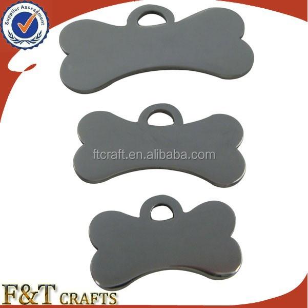 Barato <span class=keywords><strong>varios</strong></span> tamaño custom blanco hueso forma etiqueta de perro del metal