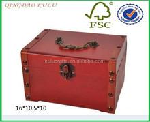 decorative wood gift box for wedding, wedding door gift box , red wedding favor box