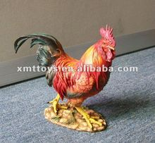 Colorful polyresin hen for home craft