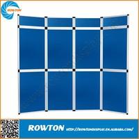 Aluminum modular PVC wall metal art display stand folded panel