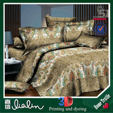 Elegant luxury home textile Plain Style 3D polyester painting woven fabric fashion bedroon style handmade bed sheets design