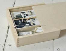 2015 handmade wooden boxes for wedding photos