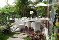 Colonial outdoor pvc rattan furniture