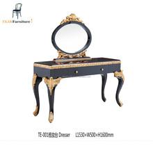 antique luxury wooden dresser with mirror