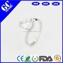 Zircon ring for the female luxury quality reduce zirconia diamond wedding ring