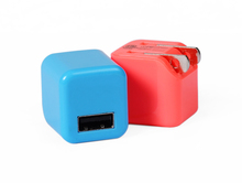 Mini Small Cube US AC Plug USB Wall Charger Adapter for Cell Phones (5V / 1A)