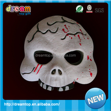 Silicone Scare Ghost Demon Monster Mask +Hair Halloween masquerade party mask