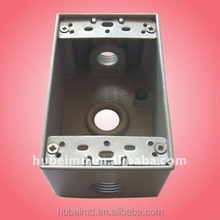 1 Gang 3 Hole Rectangle Electrical Box,3/4In,Gray,Aluminum