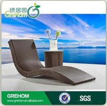 Garden furniture cheap wicker pool outdoor rattan swimming pool chair