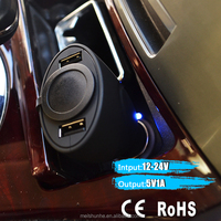 High Quality 1A output dual USB car charger for iphone 5s
