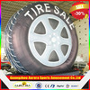New finished inflatable tire advertising with customzied Logo