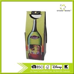 Faux Leather Wine Bottle Carrier