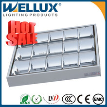 Indoor Aluminium Reflector T8 Ceiling Grille Louver Lighting Fixture