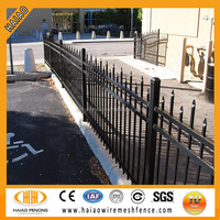 China supplier cheap polyester painting black wrought iron yard fencing