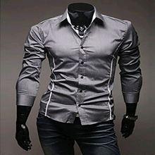 2015 New Mens shirt Casual Brand Slim Fit Camisas Social Business Long Sleeve Shirt Leisure Shirts Clothes Man Plus Size Fashion