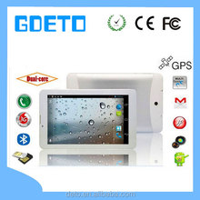 factory wholesale 3G tablet pc dual care/quad care /dual 3G sim card with bluetooth tablet pc phone