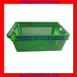 Stackable and Nestable Plastic Mesh Fruits And Vegetable Crates
