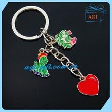 custom red heart tourist metal key ring