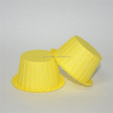 High temperature resistance yellow background small white dot lace paper cake box/cupcake/cupcake cups/paper baking cups
