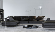 Fashion Modern Lobby Sofa Design Leather Drawing Room Sofa Set Design Lounge Sofa