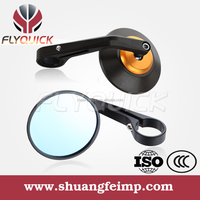 SF-065 black gold orange red white blue motorcycle cafe bar end mirrors handlebar mirrors for sale from china