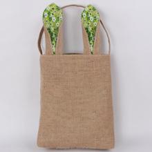 Wholesale Cheap Burlap Bunny Easter Bag