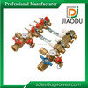4 way brass water floor heating valve plumbing manifolds pipe forged