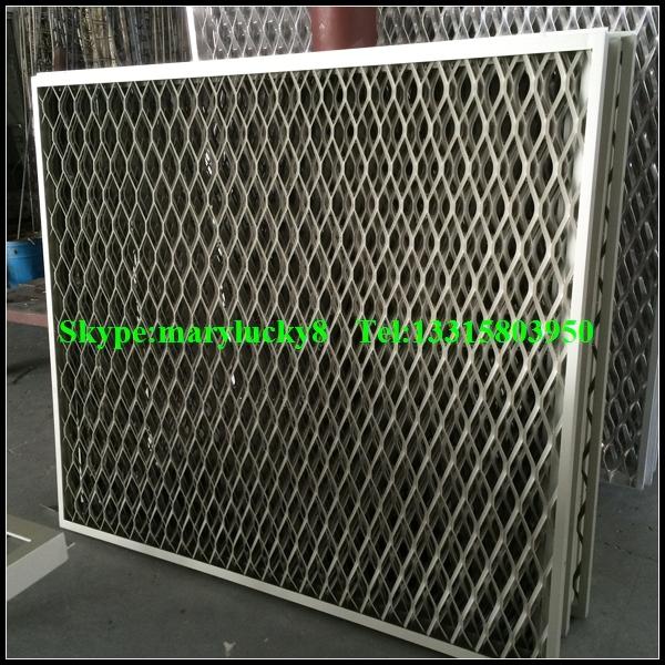 Expanded metal curtain wall mesh aluminum