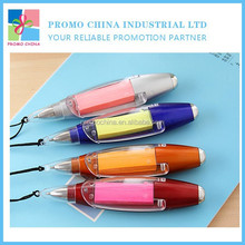 2015 New Novelty Promotional Notepad Pen With LED Light And Lanyard