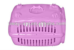 2013 newest pink plastic pet carrier with handle for traveling
